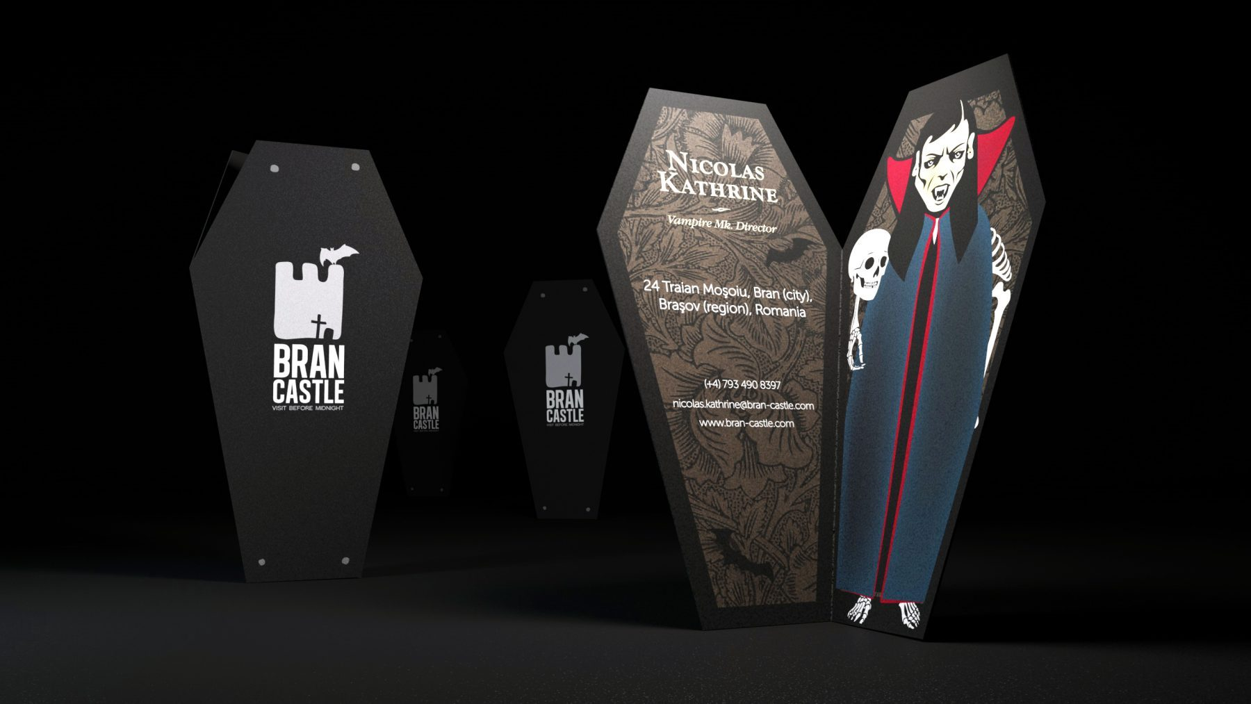 Coffin Business Card Design