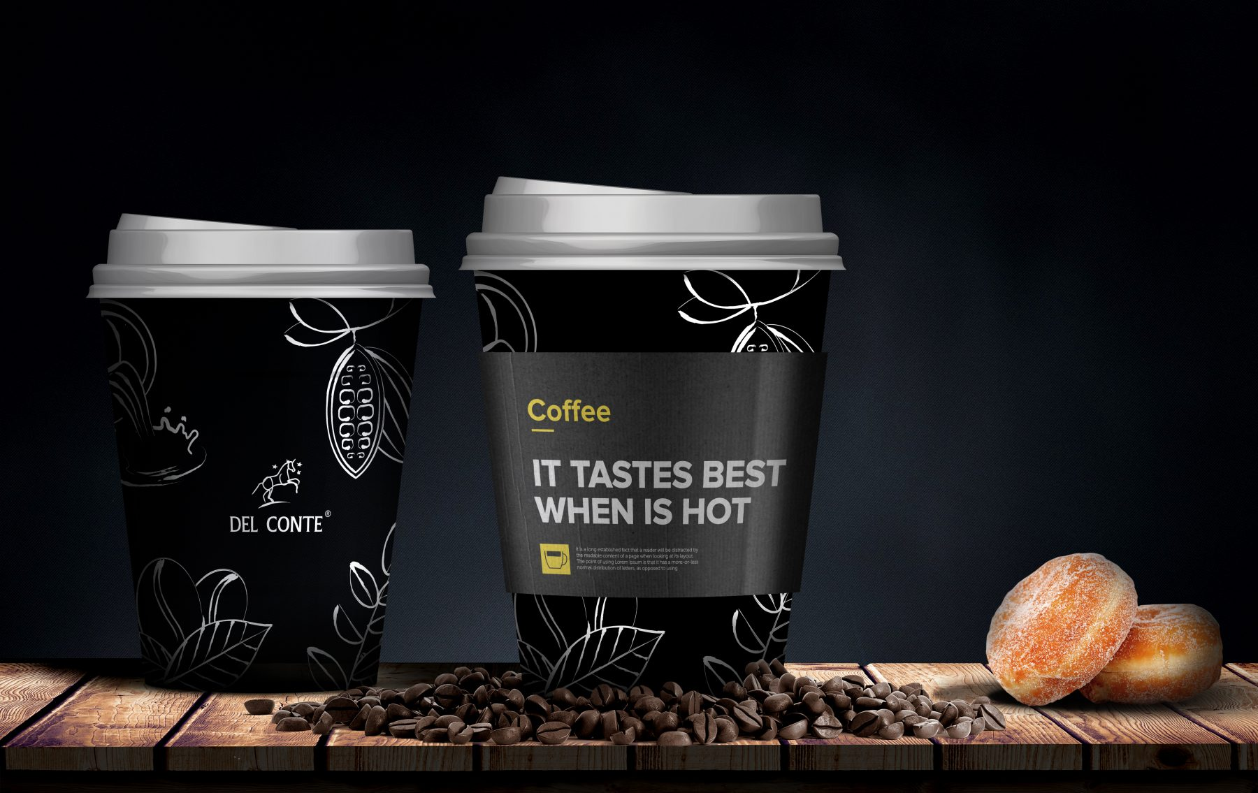 coffee, chocolate, fruit & lemon tea, milk powder, BroHouse, Del Conte, branding,Packaging, logo, pencil drawing style, packs, Oane, Florin , Bostina, reputation, illustration, draw, concept, audit