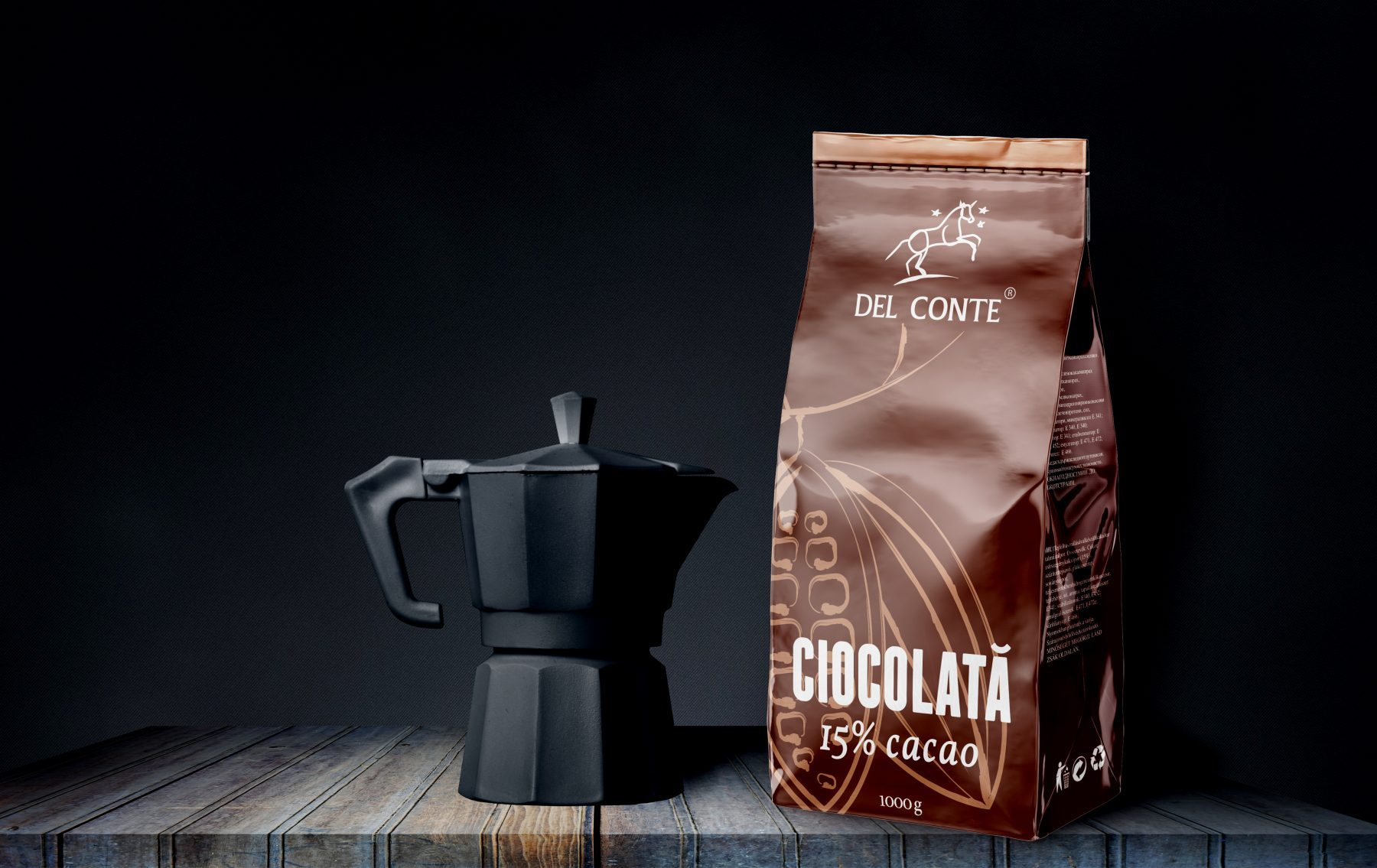 Del Conte Packaging design Chocolate