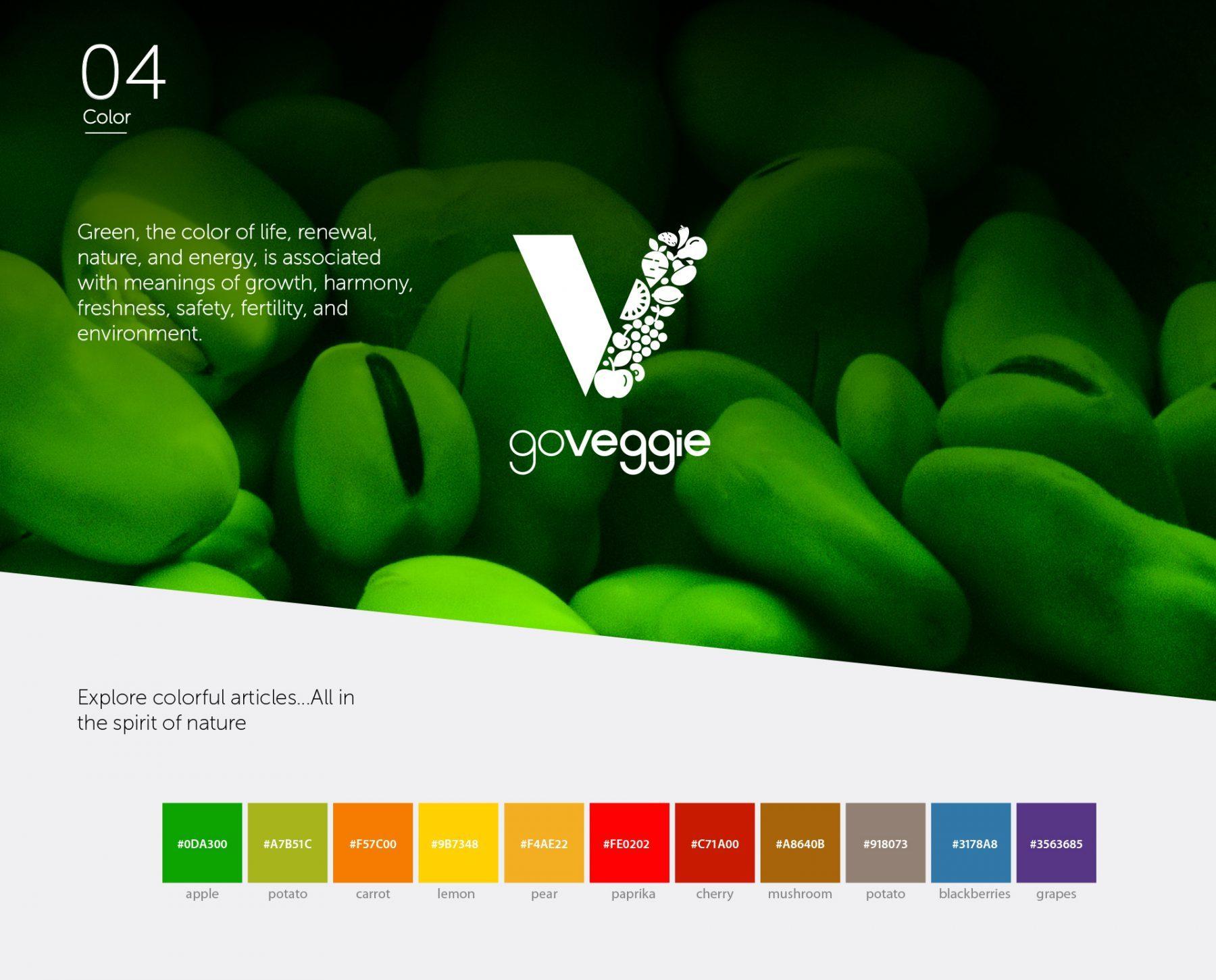 Go Veggie brand color palette