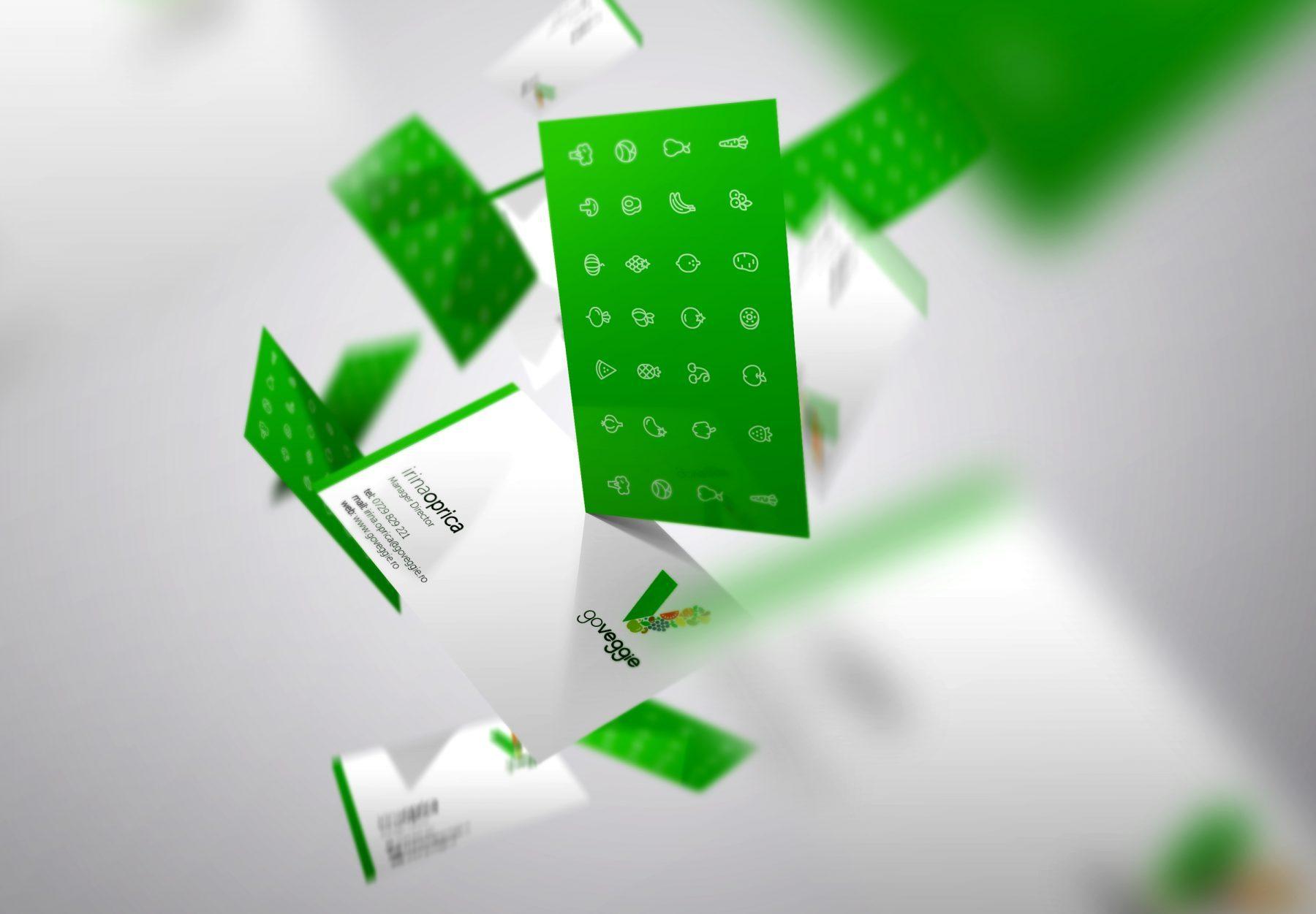Go Veggie business card design Irina Oprica