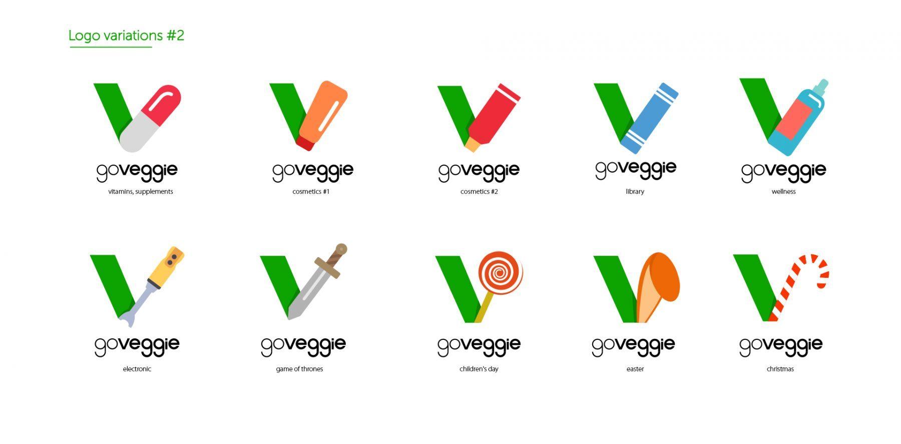 Go Veggie dynamic and fluid logo