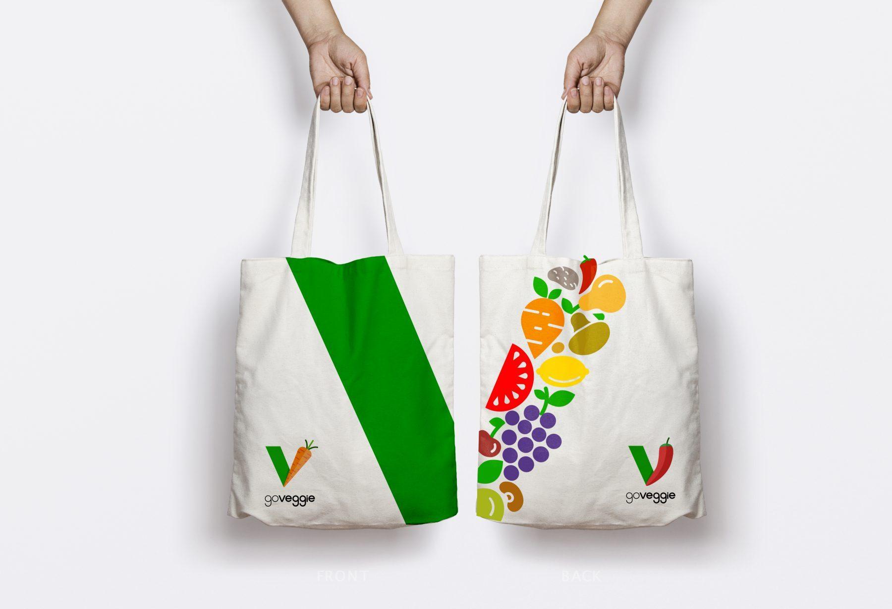 Go Veggie Shopping bag design