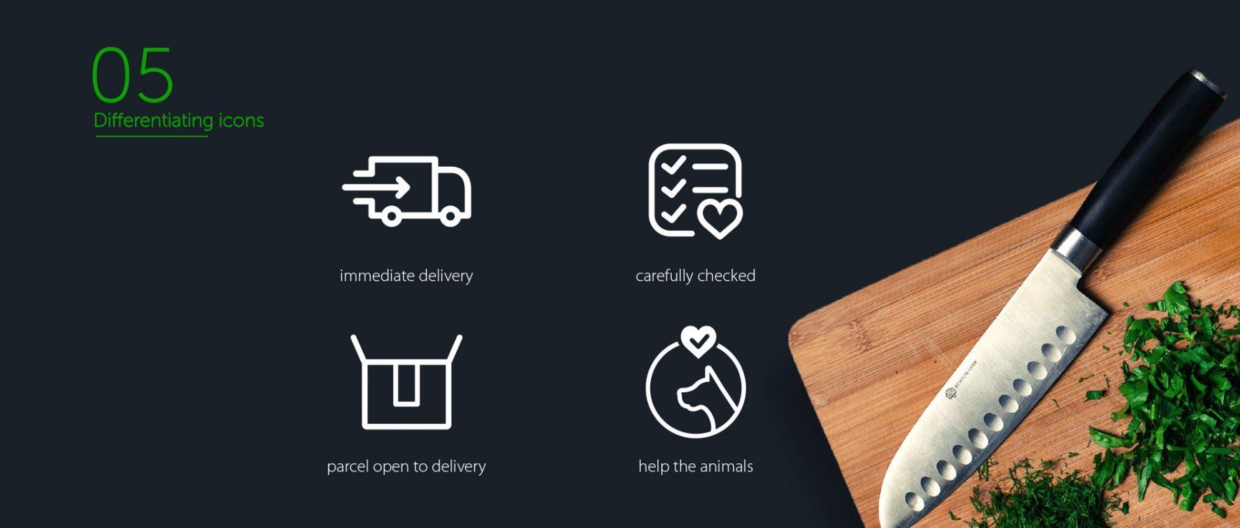 Go Veggie website icons design
