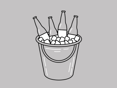 beer buckets illustration