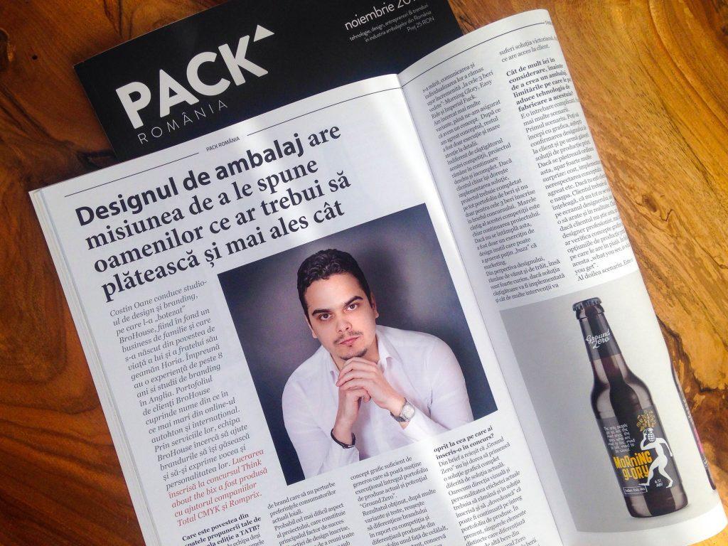 Interviu Costin Oane pentru revista Pack Romania