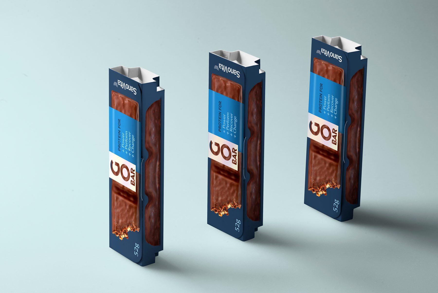 Go Bar baton proteic design eticheta gustare sanatoasa BroHouse