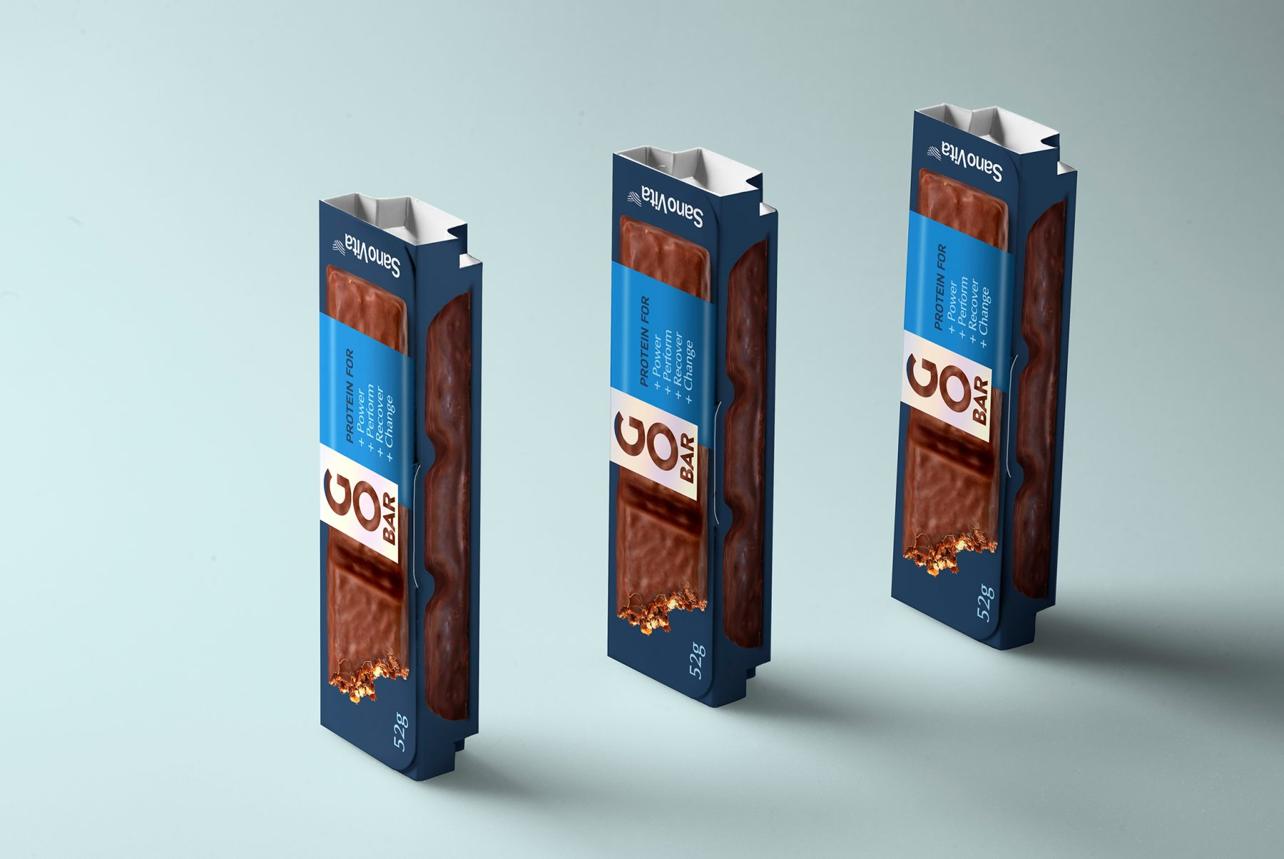 Go Bar protein bar packaging design