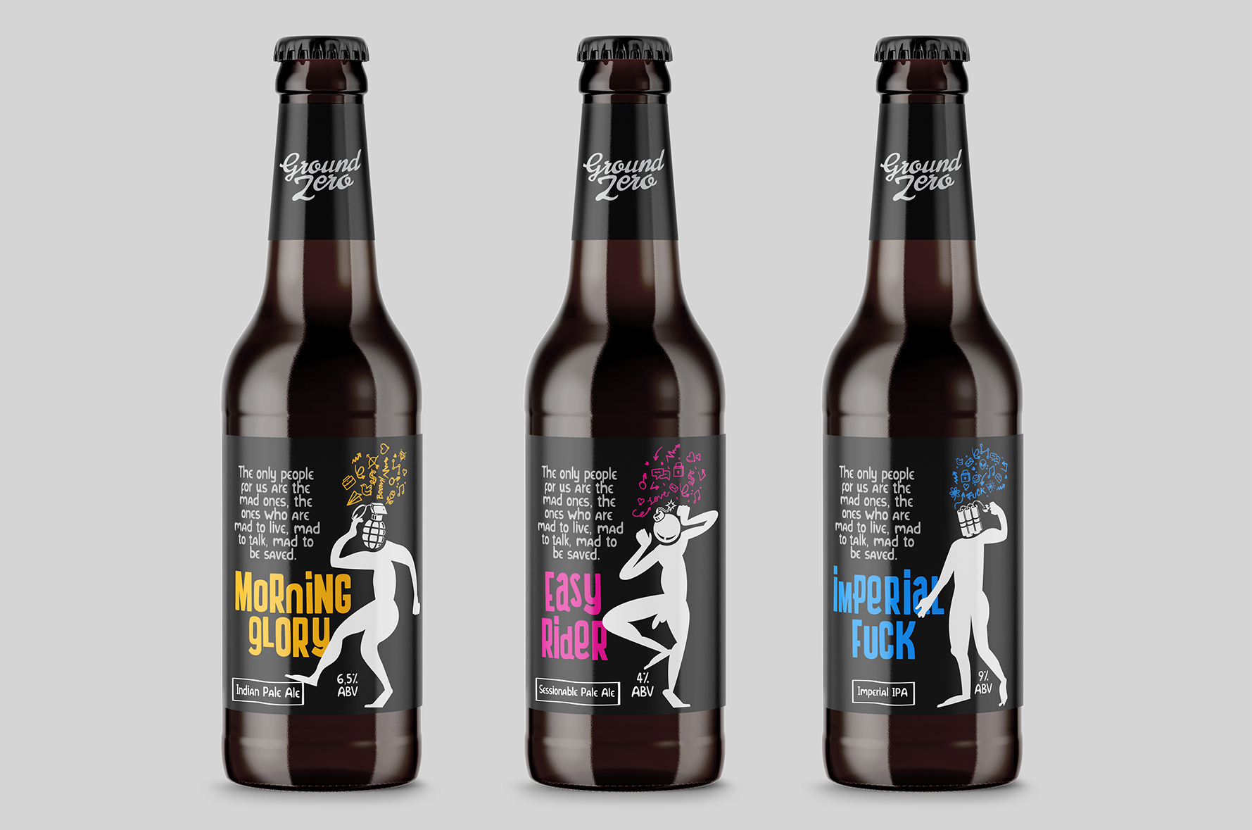 Ground zero label design craft beer