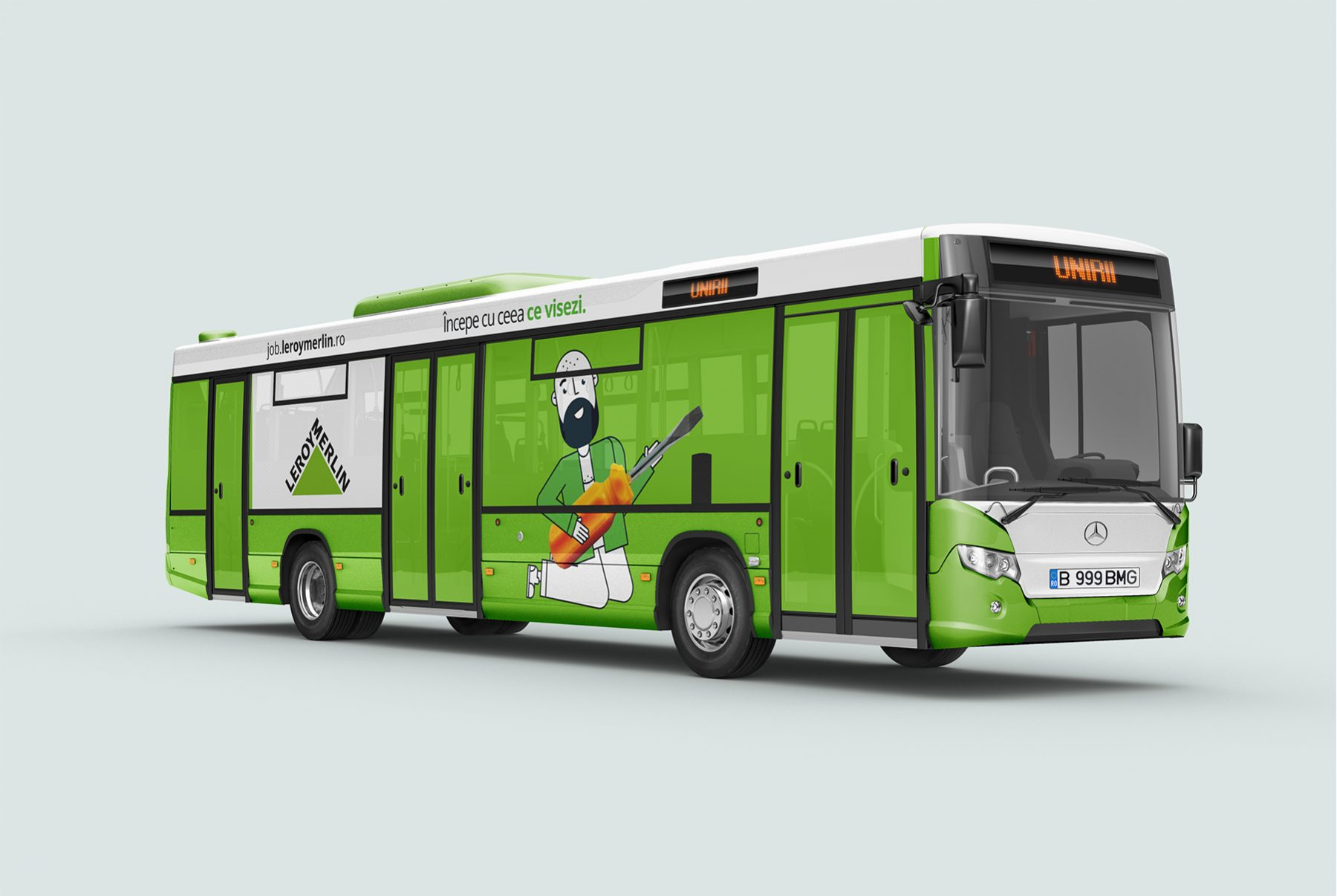 Leroy Merlin brand angajator autobuz oras