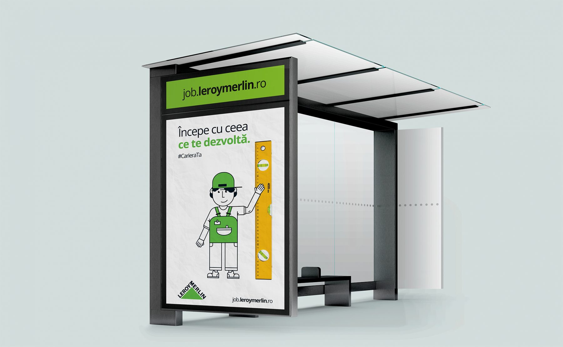Leroy Merlin employer branding bus stop