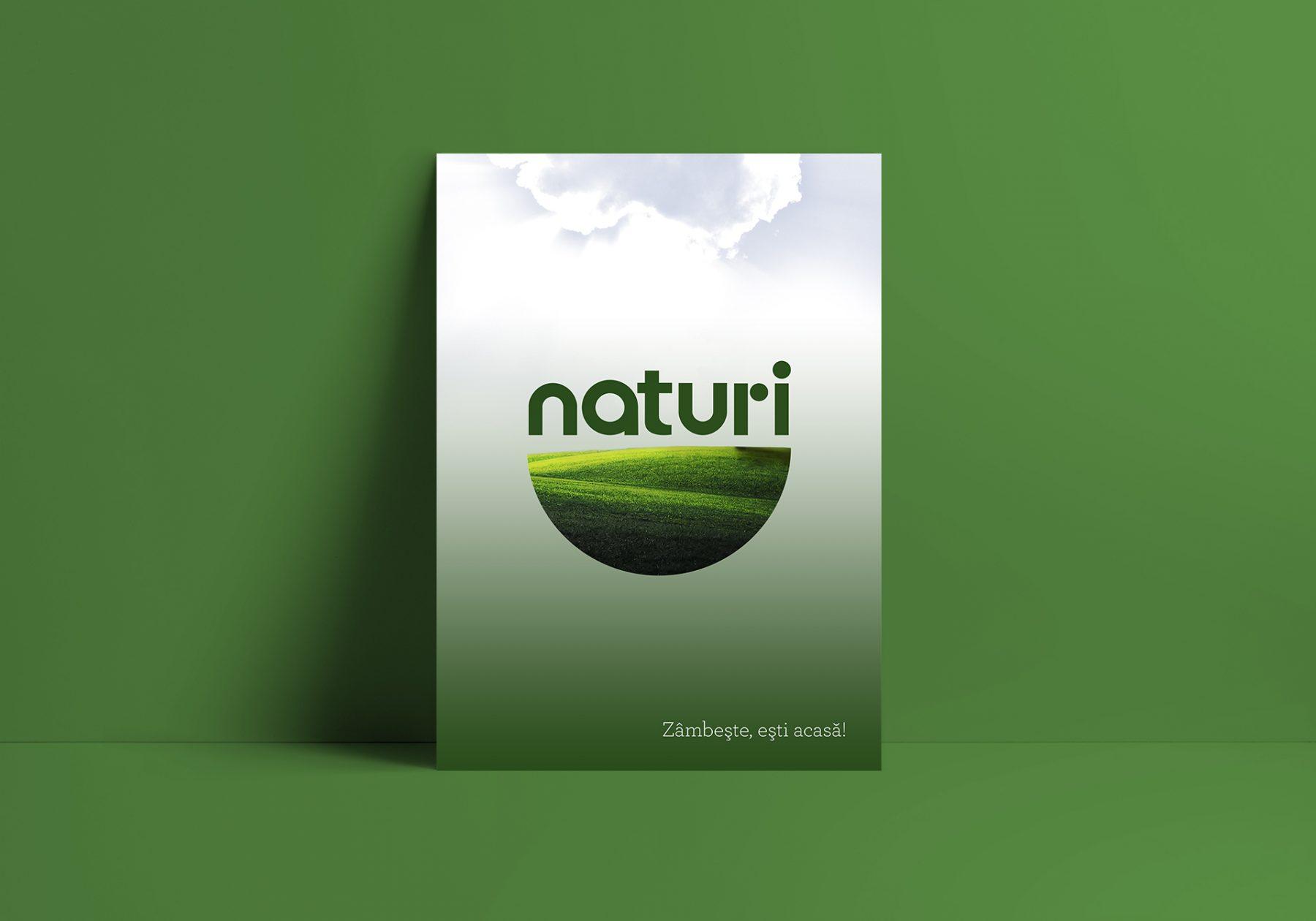 design poster Naturi retea magazine Sanovita