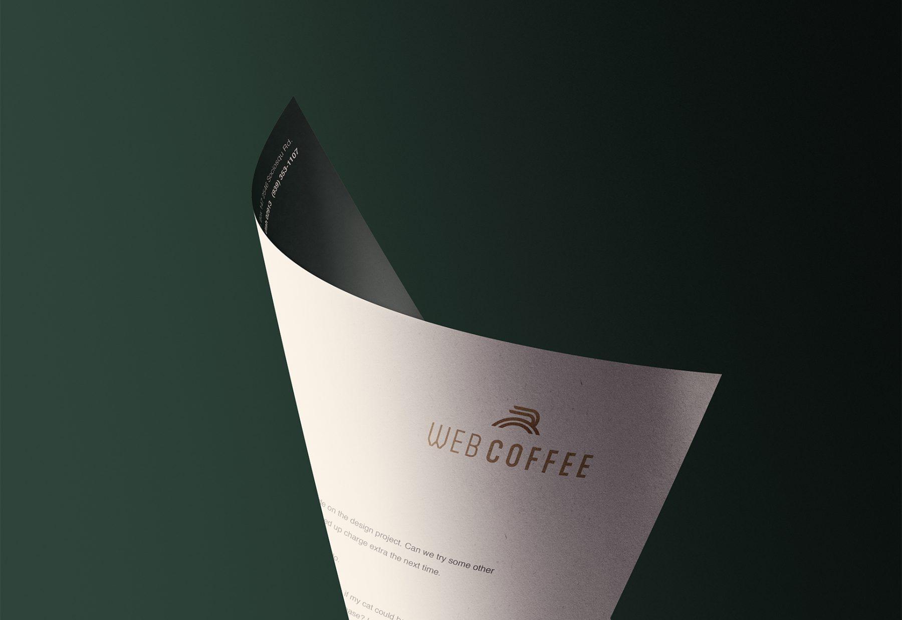 Web Coffee Document Header Design