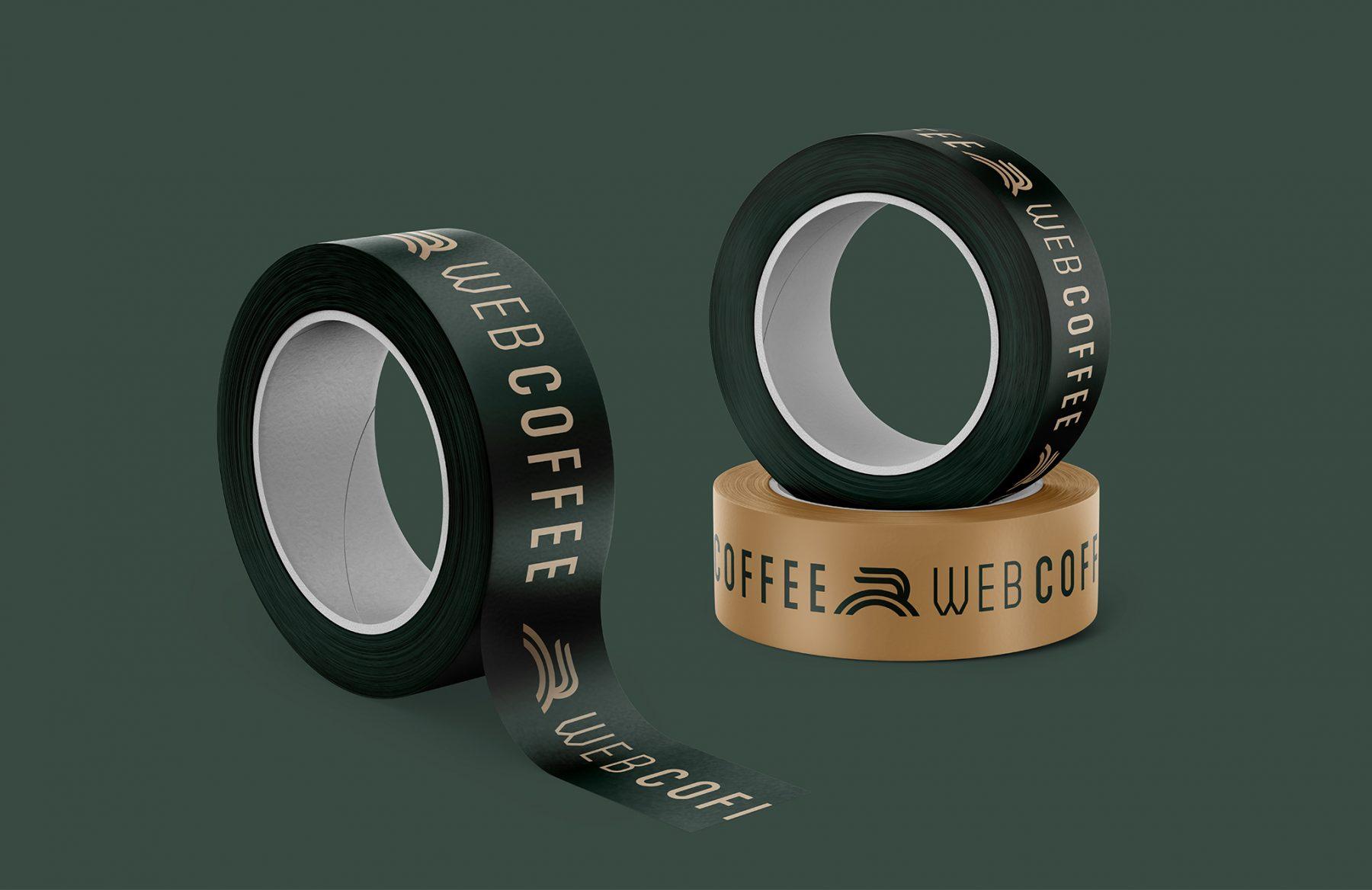Web coffee Duck Tape Design
