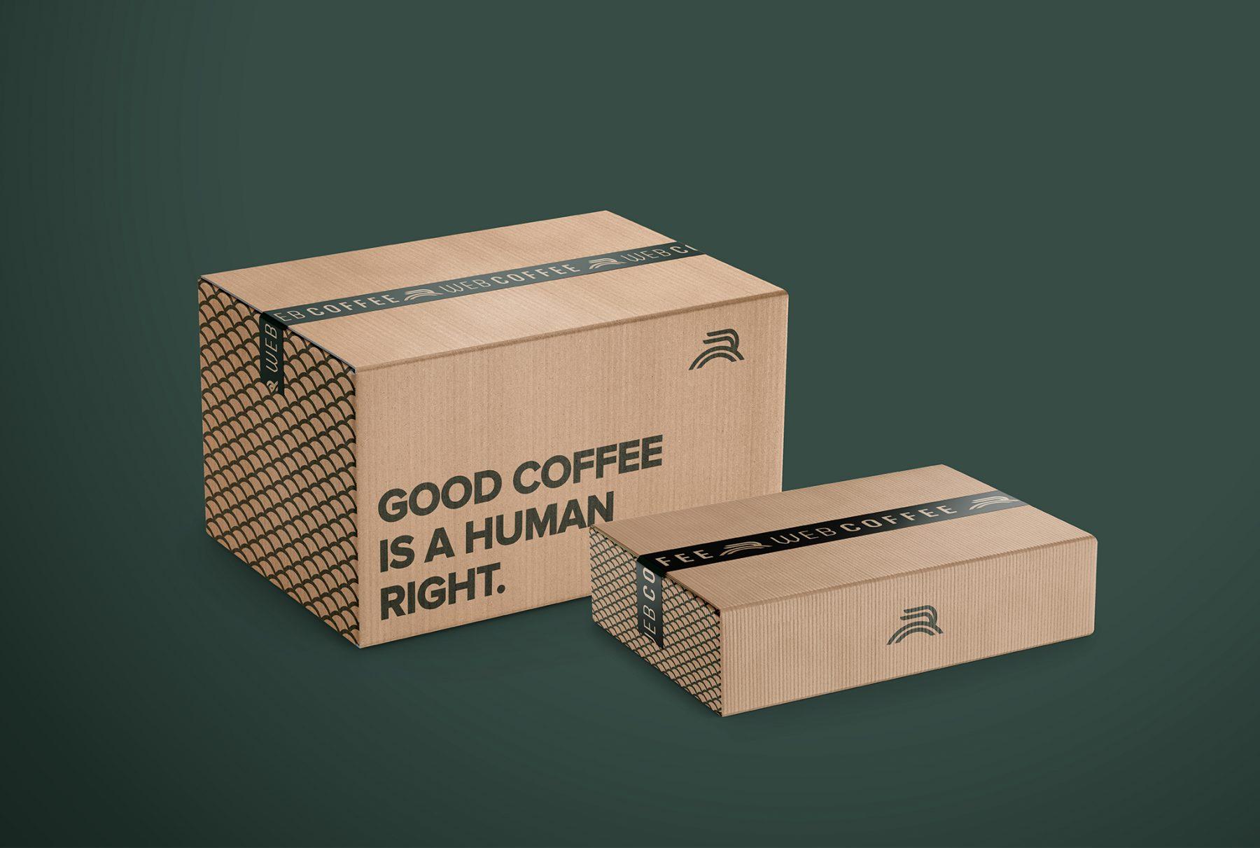 Web Coffee courier logistics