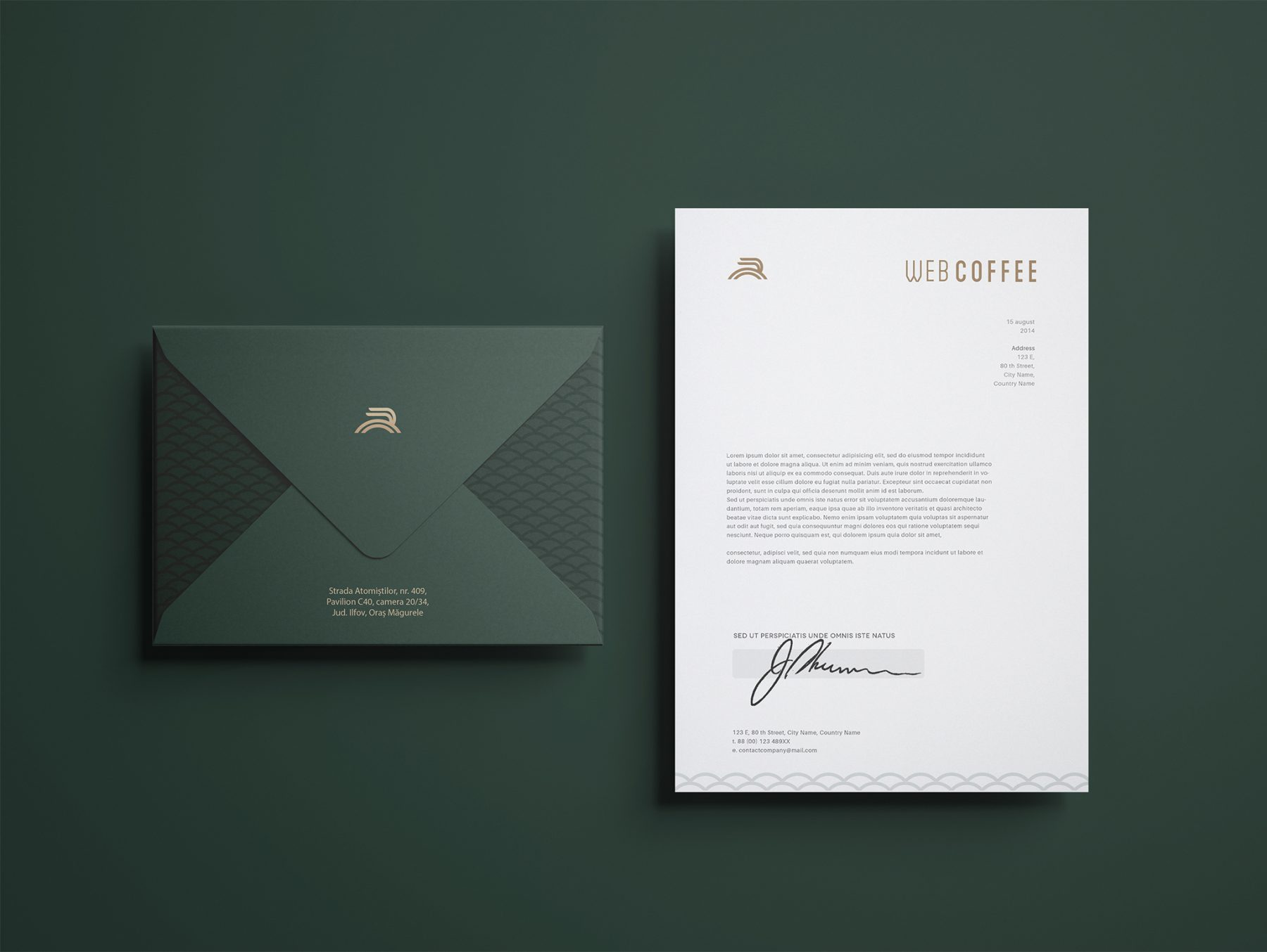 Web Coffee Envelope Design