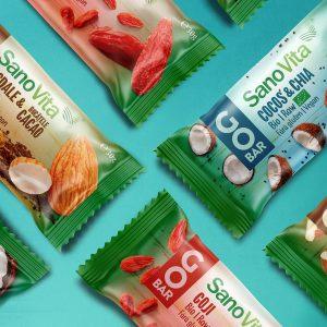 Design Etichete batoane organice Sanovita