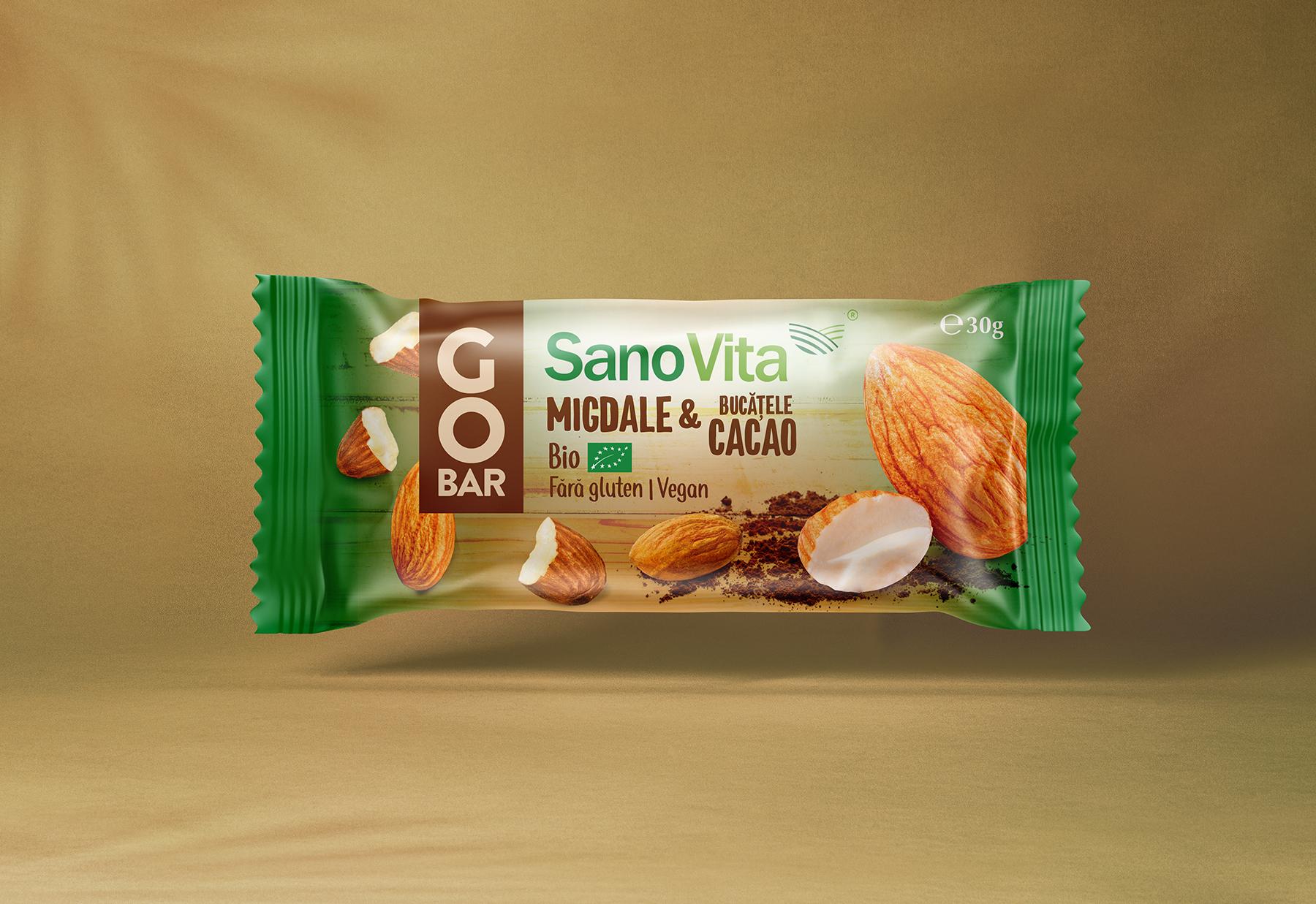 Almonds and Caco Ribs packaging design | SanoVita