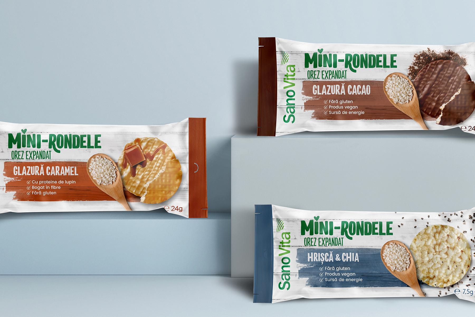 Mini-Rondele Glazurate | Design Etichete | Sanovita