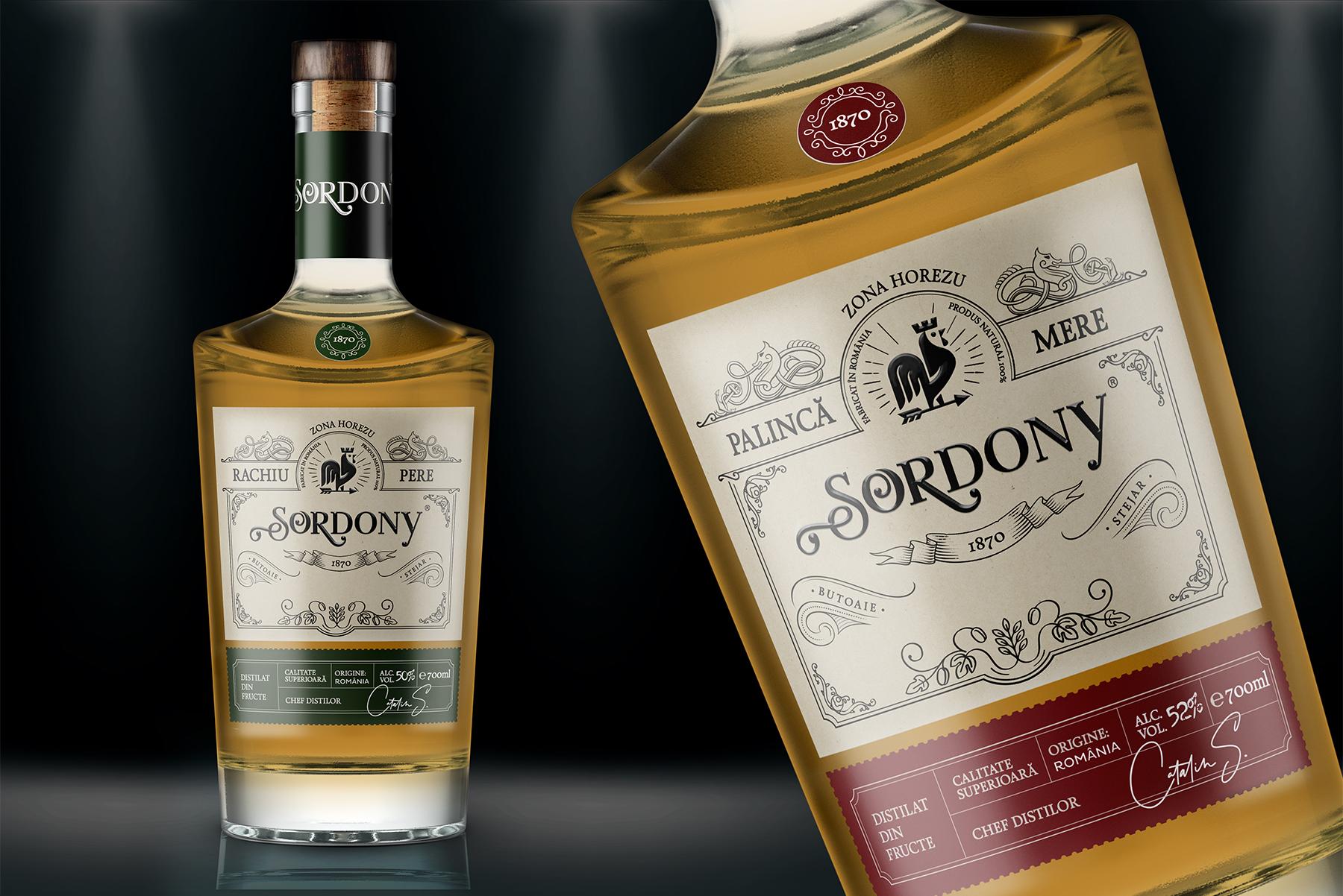 sordony label design brandy